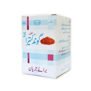 Safoof Gond Katery is effective in spermatorrhoea (Involuntary discharge of semen), premature ejaculation-useful in eliminating irritation in the urethra-reduces hyperesthesia